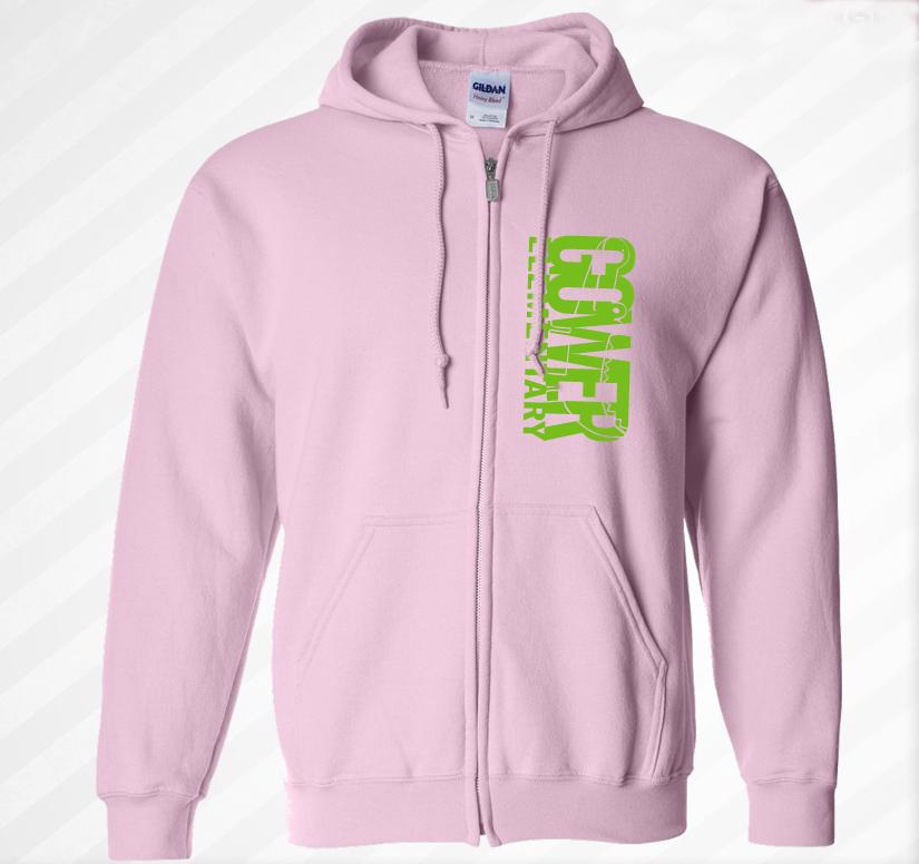 Gower Pink Zip Hoodie